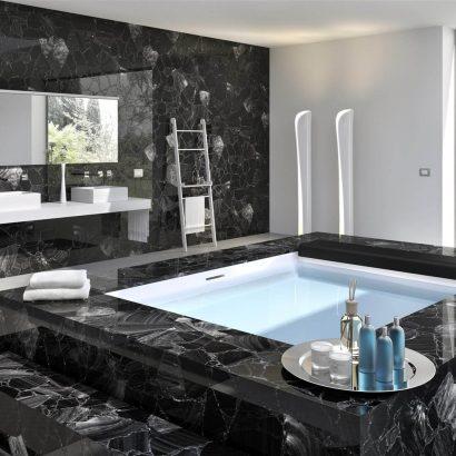 Baños de mármol y granito