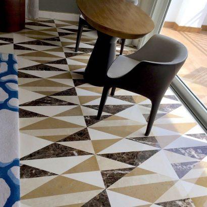 suelos de mármol modernos geométricos