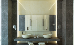 Tendencia: baños con paredes de mármol